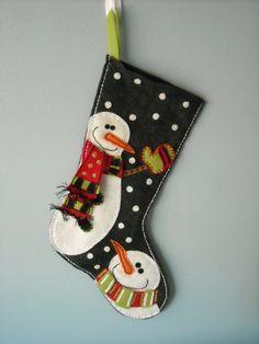 Snowman Felt Christmas Stocking