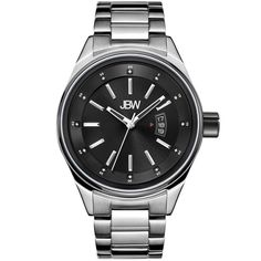 e85563c89bfdd بيع ساعة روك ألماس من جي بي دبيليو مينا سوداء سوار ستانلس ستيل فضي J6287M