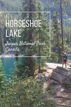 Kids love climbing over all the different rocks on this short walk at Horseshoe Lake in Jasper National Park, Alberta.
