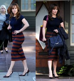 Jennifer Lopez Showed Off Enviable Figure in a Dorothy Perkins Pencil Skirt