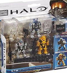Mega Bloks Halo Spartan Assault Battle Pack Build the universe with the Halo: Spartan Assault Battle. Lego Halo, Halo Lego Sets, Building Sets For Kids, Building Toys, Halo Action Figures, Halo Mega Bloks, Halo Armor, Halo Spartan, Mega Blocks