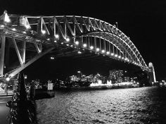 Sydney Harbour Bridge. #blackandwhite #bandw #sydney #sydneyharbour #bridge #sydneyharbourbridge #photography #seeaustralia #holidays #instamood #architecture #australia #nsw #walk #nighttime by simon_news http://ift.tt/1NRMbNv