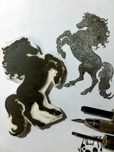 Rubber Stamp Horse For My Mom The Year Before Last But It Seemed She