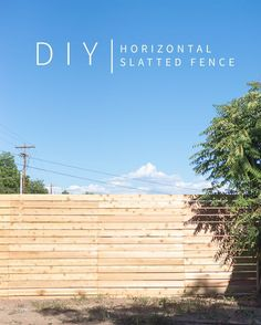 Horizontal Slatted Fence + My FAVORITE DIY App