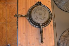 Cast Iron Griswold Advertising Waffle Iron. by CastIronHolloware