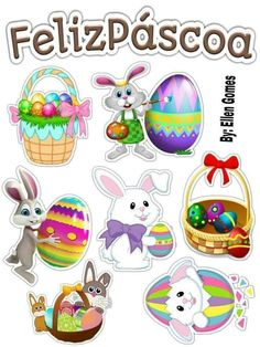 Wall Shelf Decor, Easter Printables, Aesthetic Stickers, Printable Planner, Easter Crafts, Clipart, Easter Bunny, Decoupage, Scrap