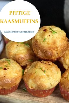Baked Cheese, Cheese Muffins, Vegan Cheese, Dutch Recipes, Baking Recipes, Vegetarian Recipes, Healthy Recipes, High Tea, Diy Food