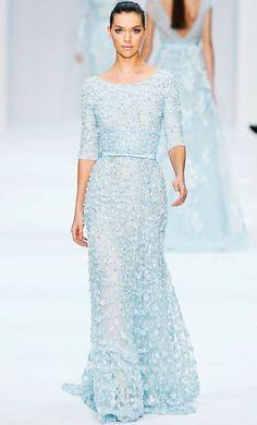 Katy Perry's blue-hued dress from Elie Saab. We love.