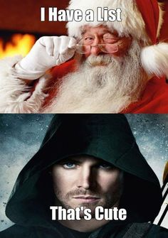 Arrow doesn't have to check his twice Arrow Tv Series, Cw Series, Supergirl Dc, Supergirl And Flash, Green Lantern Green Arrow, Superhero Humor, The Cw Tv Shows, Dc Comics Series, Stephen Amell Arrow