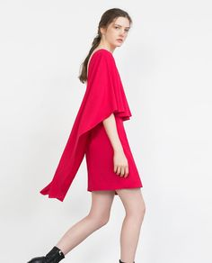 CAPE DRESS WITH LOW BACK