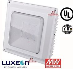 $49.99 (50% Off) on LootHoot.com - 45 Watt LED Ceiling Light - 5000 Lumen - Ultra efficient LED - Canopy Light - Can be recessed mounted or direct to Ceiling Mount. Canopy LED light - Ceiling LED light - Gas station LED style Light