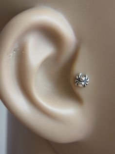 Little spider tragus / cartilage /helix earing 1pc by PiercingRoom, $12.95