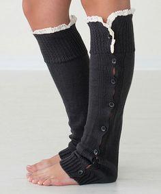 This Dark Gray Betty Leg Warmers by PeekABootSocks is perfect! #zulilyfinds