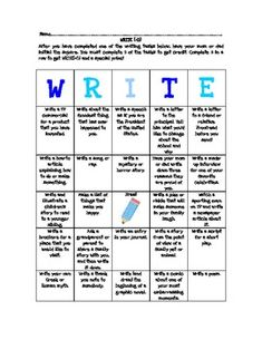 summer writing prompts for middle school