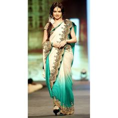 bollywood sofhie with bhagyashree white gorgette saree work:- Heavy Cut work Border in full saree, Blouse wll be golden shining broket fabrice, embroidery golden Jari work in Border, ready to dispatch, Best quality at Best Price only at SAREEZ HOUSE White Saree, Buy Jewellery Online, Elegant Saree, Cut Work, Sarees Online, Indian Dresses, Asian Woman, Bollywood, Cover Up