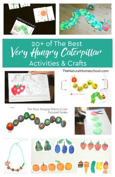 of The Best Very Hungry Caterpillar Activities & Crafts - The Natural Homeschool Easy Arts And Crafts, Easy Crafts For Kids, Projects For Kids, Diy For Kids, School Projects, Art Projects, Kindergarten Lesson Plans, Kindergarten Activities, Activities For Kids
