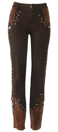 Jeans that look like like cowboy boots as tall as your waist...Chocolate Murano Jeans