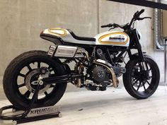 Scrambler by Krugger Custom Motorcycles, Custom Bikes, Street Scrambler, Custom Cafe Racer, Motorcycle Bike, Super Bikes, Cool Bikes, Bobber, Motocross