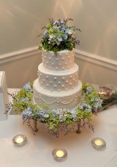 Hydrangea Wedding — Round Wedding Cakes