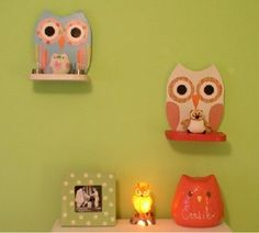 Singel Cute Wooden Owl Shelf In Color Furnikidzcom Best Children Unique Furniture, Kids Furniture, Furniture Design, Custom Woodworking, Woodworking Projects Plans, Owl Room Decor, Owl Bedrooms, Girls Bedroom, Bedroom Ideas