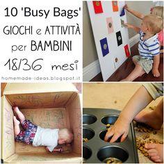 """10 DIY """"Busy Bags"""" - Attività per bambini da 18 a 36 mesi"""