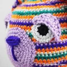 How To Add Faces To Your Amigurumi Part 4: Crochet Eyes And Eyelids • Free tutorial with pictures on how to make a crochet in under 30 minutes