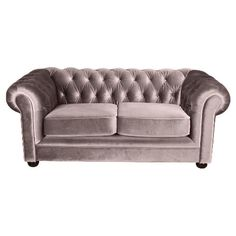 Mink velvet sofa - good colour a bit too shiny