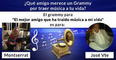 ¿Qué amigo merece un Grammy por traer música a tu vida?