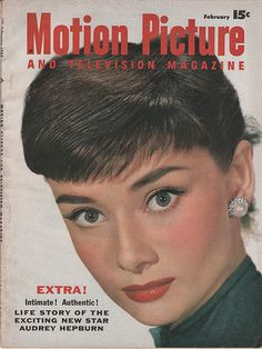 The February 1954 Motion Picture with Audrey Hepburn. Audrey is so pretty.