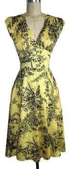 Trashy Diva 1940s dress in Yellow Toile!
