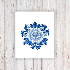 This pretty floral temporary tattoo is made in the famous Dutch 'Delfts Blauw' style. Wear it on your wrist or on your arm. It doesn't really matter; it will lo