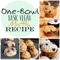 One Bowl Basic Vegan Muffins