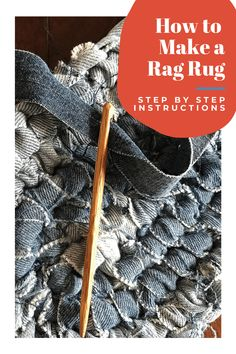 Ever wanted to make a Rag Rug? Use your creativity and design a handmade rug that matches your decor! #ragrug #diycrafts #upcyclefabric #makeragrugs