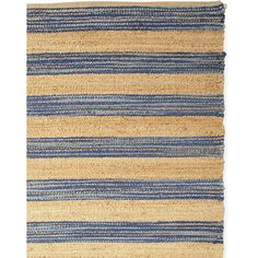 Serena & Lily Jute Broad Stripe Rug ($298) ❤ liked on Polyvore featuring home, rugs, blue striped area rug, coastal rugs, jute area rugs, striped jute rug and hand woven area rugs