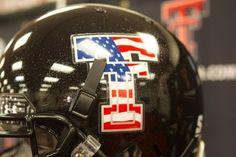 Texas Tech Flag Helmet