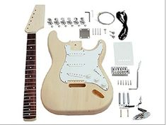 Saga build-your-own electric guitar kit. Ideal for the DIY-loving musician http://www.makershed.com/product_p/mksgst10.htm
