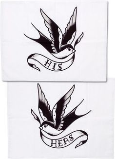 Swallow His/Hers Pillowcases
