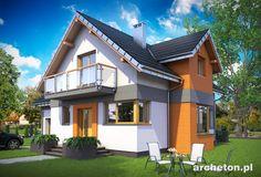Projekt domu Koliba Astro to nowoczesny dom z wejściem od ściany szczytowej
