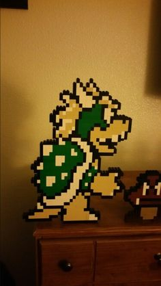 Diy Projects For Adults, Lego Projects, Crafts For Kids, Lego Mario, Lego Super Mario, Legos, Nintendo Room, Mario Crafts, Lego Mosaic
