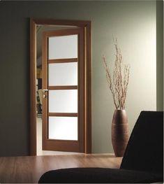 Puertas de madera con cristal