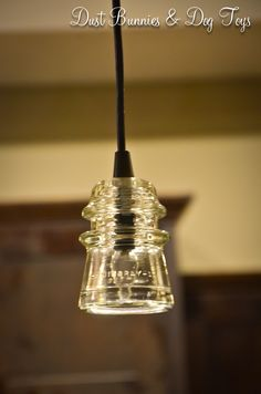 Telephone pole Insulator pendant