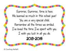 Goodbye Letter To Preschool Students - Classycloud co