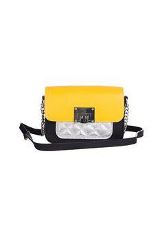 Geanta crossbody mini cu model colorblock Hazel Ella Icon (1338-YELLOW) | Fashion Days Yellow Fashion, Fashion Days, Color Blocking, Belt, Model, Accessories, Belts, Scale Model