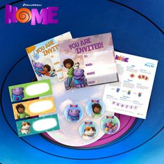 Plan an out of this world party with a free party kit from #DreamWorksHOME - activities, snack ideas, decorations and more!