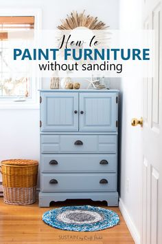 Am going to paint all my furniture now! This tutorial on how to paint furniture without sanding makes furniture upcycling look so easy. The DIY chalk-style paint tall dresser makeover would be perfect for a coastal style cottage boy's room or nursery. Sanding Furniture, Painting Laminate Furniture, Repainting Furniture, Paint Furniture, Furniture Plans, Furniture Makeover, Diy Dresser Makeover, Dresser Makeovers, Refinished Furniture