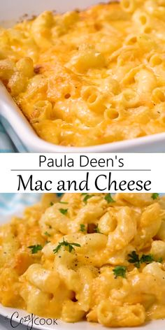 This EXTRA creamy Mac and Cheese Recipe from Paula Deen can be baked in the oven or made in the Crock Pot. PLUS, you can make it up to two days ahead of time! This EXTRA creamy Mac and Cheese Recipe from Paula Deen can be baked in the oven or … Best Mac N Cheese Recipe, Best Macaroni And Cheese, Macaroni Cheese Recipes, Creamy Mac And Cheese, Mac And Cheese Homemade, Mac And Cheese Recipe Baked Paula Deen, Simple Mac And Cheese, Baked Cheese, Healthy Cooking Recipes