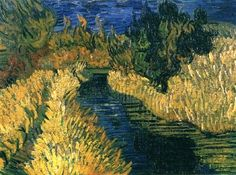 Vincent Van Gogh. The Little Stream (1890).