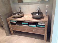 Badkamermeubel met 2 lades - De steiger houtloods