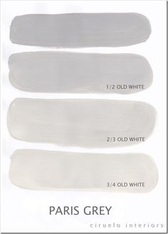 """Paris Grey Excellent info from Ciruelo Interiors Blog; """"Annie Sloan Chalk Paint lovers: Here is my extended colours range"""" show how the colors can be mixed to achieve huge color range~"""