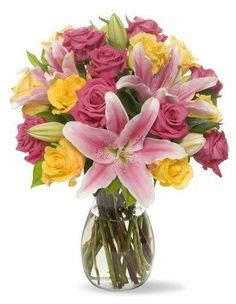 Bloom Bouquet Flowers Vase Happy Mothers Day Gift Fresh Cut stem Flowers Candy